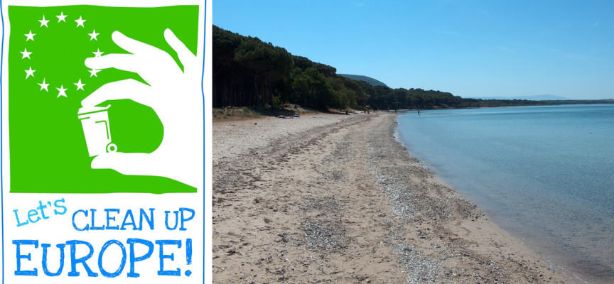 "Volontari per ripulire la spiaggia di Mugoni, ""Let's Clean Up Europe""!"