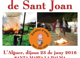 """""""Festa dels focs de Sant Joan"""" a Santa Maria la Palma"""
